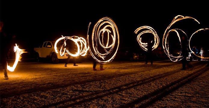 Makgadikgadi fire dance