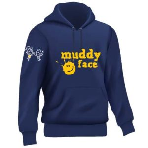 SIDE FRONT Navy blue and yellow hoodie full set 01